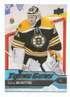 2016-17 UD Young Guns #496 Zane McIntyre RC Rookie Boston Bruins