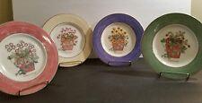 Set of 4 Wedgwood Sarah's Garden Queen's Ware 4 Color Salads
