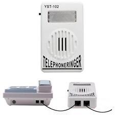 Telephone Phone Amplifier Strobe Light Flasher Bell Extra-Loud 95dB Ringer Sound