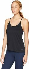 Under Armour Damen Tank-Top, Shirt Solid Fashion, Black/Tonal (001), L, 1325580