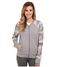 Under Armour Studio Perfect Bomber full zip athletic Jacket MEDIUM Steeple gray