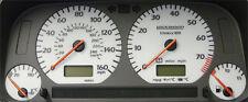 Lockwood VW Golf Mk3 GTi & VR6 0-160MPH SILVER (ST) Dial Kit 40LLL
