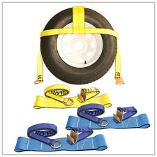 "4 Master Tow Dolly Basket Straps 13""-20"" Yellow Blue"