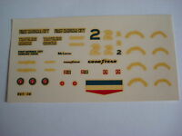 F1 DECALS KIT 1/43 MC LAREN M24 INDY 1977 FIRST NATIONAL CITY  FDS AUTOMODELLI