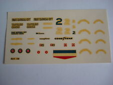 F1 DECAL 1/43 MC LAREN M24 INDY 1977 FIRST NATIONAL CITY DRIVER RUTHERFORD