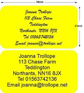 260 stickers labels return Address Personalised Yellow