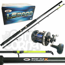 New NGT Sea Boat Fishing 6ft 25lb 2pc Rod And Multiplier 3000 Reel Set With Line