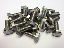 """7/16UNF X 1"""" HEX HEAD SET BOLTS A2 STAINLESS STEEL FULLY THREADED (QTY 4)"""