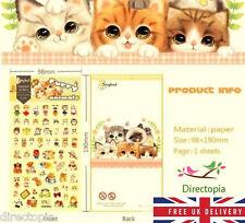 Furry Animals gato Diseño Pegatinas Decoración Diario Álbum De Dibujos Animados Kawaii álbum de recortes