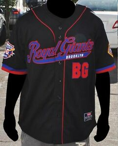 NLBM Brooklyn Royal Giants Baseball Jersey Black