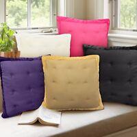 Quilted Luxury 43cm x 43cm Scatter Cushion Covers Velvet Trim Cream Black Blue