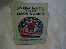 1938 SNOW WHITE AND THE SEVEN DWARFS Wanda Gag hardcover,e.m.hale,queen,prince