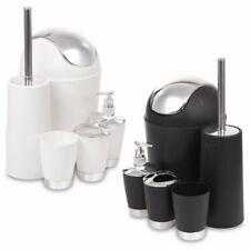 Jaboneras y dispensadores de plástico de color principal negro
