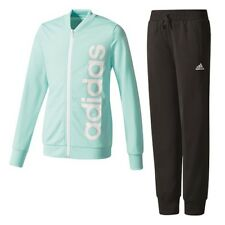 adidas linear Polyester Tracksuit 152