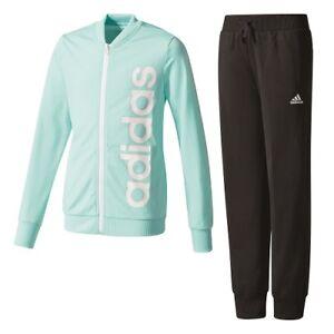 ADIDAS Linear Polyester Kinder Sport- Training- Jogging Anzug Mädchen CF1247 /K1