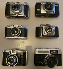 6 x Vintage 1950s 1960s 35mm Film Cameras Great for Props Display Spares Repairs