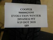 1 NEW COOPER EVOLUTION WINTER 205 65 16 95T TIRE WO LABEL 90000029395 Q9