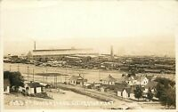 c1910 RPPC Northern Pacific RR Shops & Yards Livingston MT Park County Unposted