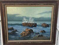 Edward Karasek (United States, 1909 - 2009) Impressionist Seascape Oil on Canvas