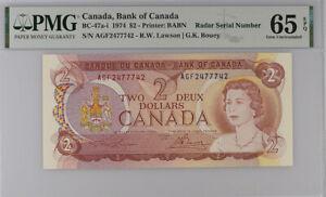 Canada 2 Dollar ND 1974 P 86 Lawson/Bouey GEM UNC PMG 65 EPQ
