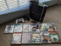 PS3 Playstation 3 Used Console Bundle 80GB HDD w/11 Games CECHK01