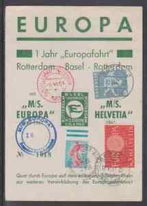 1961 Sonderbeleg EUROPA  1 Jahr Europafahrt mit MS EUROPA-MS HELVITIA am Rhein