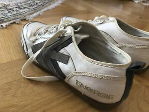 159€ Energie Italy Writer Sommer Turnschuhe Sneaker Weiß Grau Leder 44 45