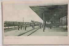 2828 tolle AK Bahnhof Schneidemühl Schlesien PC railway 1916