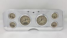 1955 1956 1957 1956 1959 GMC 6 Gauge Dash Cluster Set Billet Insert Tan