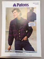 """Patons Knitting Pattern: Ladies Cardigan/Jacket, Aran, 30-40"""", 4790"""