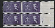 US Scott #1200, Plate Block #27227 1962 Atomic Energy 4c FVF MNH Lower Right