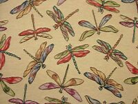 "Dragonfly ""Animal Tapestry"" Designer Fabric Upholstery Curtains Cushions Throws"