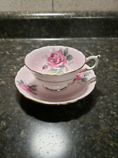 Vintage Paragon Double Warrant Cabbage Rose Tea Cup Saucer Bone China