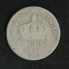 50 ct Argent Napoleon III 1864 K Tête Laurée