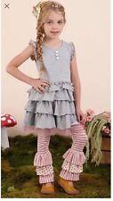 NWOT Matilda Jane Once Upon A Time Hidden Cottage Benny Leggings Size 10 Pink