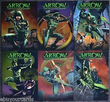 Cryptozoic Arrow Chrome Comic Book Covers Complete Set CCC1-CCC6 Trading Cards