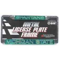 michigan state spartans metal inlaid acrylic license plate frame - Michigan State License Plate Frame