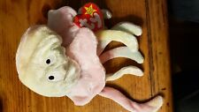 2 1998 Ty Beanie Babies  Mooch Monkey Goochy Neon Squid Retired