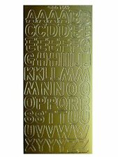 LARGE LETTERS Peel off Stickers 18mm Alphabet Card Making Gold Silver White