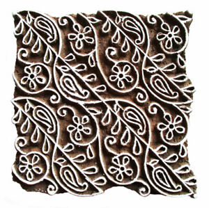 HOLZSTEMPEL BLUMEN H=13,5 cm Textilstempel Indien Henna Seifenstempel Floral