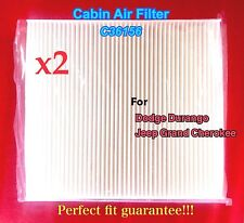 x2 C36156 Cabin Air Filter For Dodge Durango 11-15 Jeep Grand Cherokee CF11183