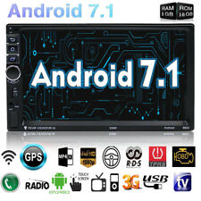 "Android 7.1 WIFI 4G 7"" Double 2DIN Car Radio Stereo MP5 Player GPS 16G Bluetooth"