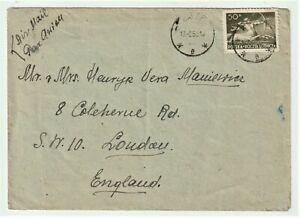 Poland 1950 airmail cover Warsaw to Coleherne Road London SW10 England