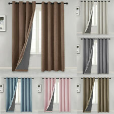 New Listing100% Blackout Curtain with Liner Burlap Primitive Linen Look Drapes Living Room