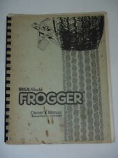 Frogger Owners Manual W Foldout Schematics Sega Gremlin 1981 Arcade Video Game