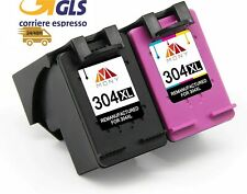 KIT 2CARTUCCE COMPATIBILI HP 304 XL NERO e COLORE STAMPANTE DESKJET3700 3720 gls