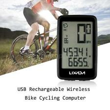 Lixada USB Rechargeable Wireless Bike Cycling Computer with Cadence Sensor B4C5