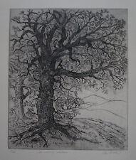 """CHARLES GOETZ(1923/2003) Gravure  """" LE VIEUX CHENE """" 5/25 - Signé"""