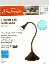 NEW SUNBEAM FLEXIBLE NECK LED DESK LAMP ADJUSTABLE LIGHT ENERGY STAR - BLACK