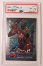 1994-95 Finest #331 Michael Jordan w/ Coating PSA 8 NM/MT AJ112